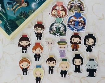 Harry Potter — magnetic bookmarks