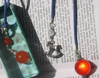 Rocking Horse Bookmark Red