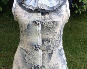 Womens Felt Vest Handmade