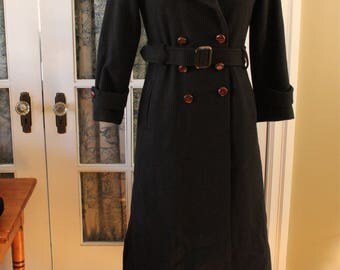 1980's Cecil Gee Wool Trench Coat