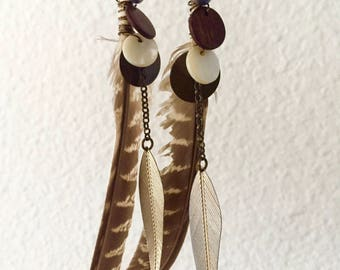 One of a Feather Dangle Earrings