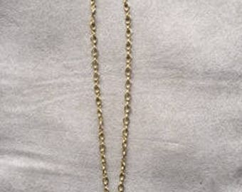 Pink tear drop charm necklace