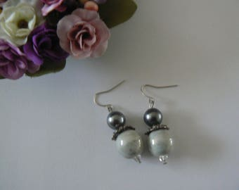 Earrings grey - light gray