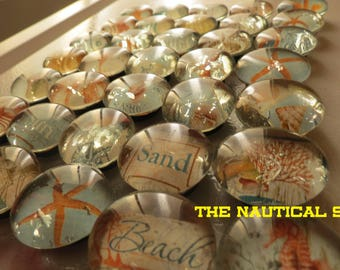 Nautical  Glass Bubble Magnets