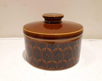 Lovely Hornsea Heirloom Round Butter Dish, 1976