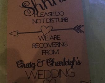 Wedding doorhanger