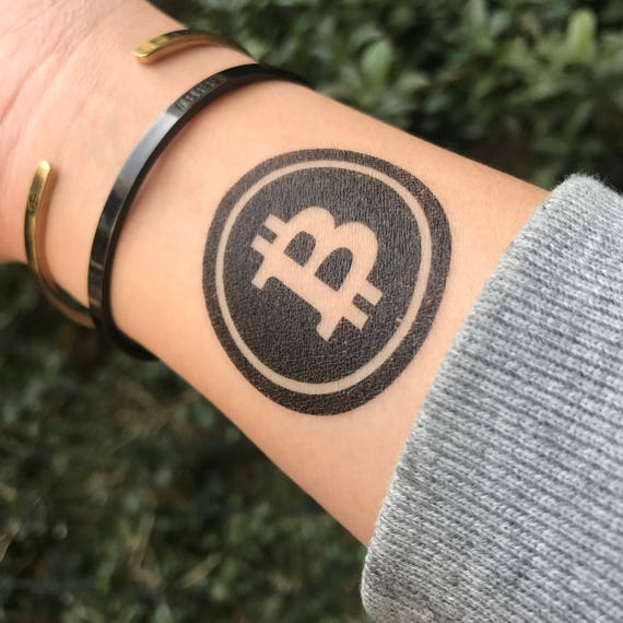 Bitcoin Sign Temporary Tattoo Sticker