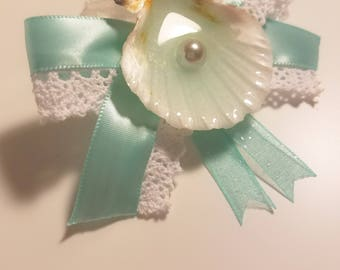 Seashell Hair Bow