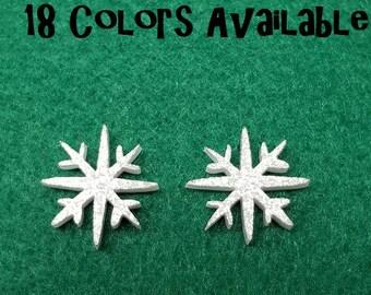 Snowflake Laser cut glitter Acrylic cabochon- 8pcs