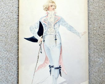 Metropolitan Opera Company Costume Watercolor Original Signed Drawing Pastel 1894 The Met New York 19th Century Unique One of a Kind History
