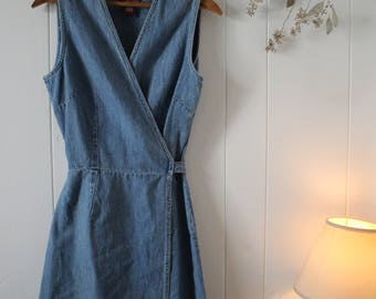 Vintage Wrap Around Denim Dress