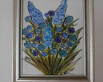 Blue Bouquet Watercolor Painting