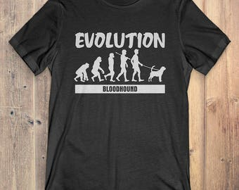 Bloodhound Custom Dog T-Shirt Gift: Bloodhound Evolution
