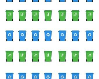 Trash Day Stickers