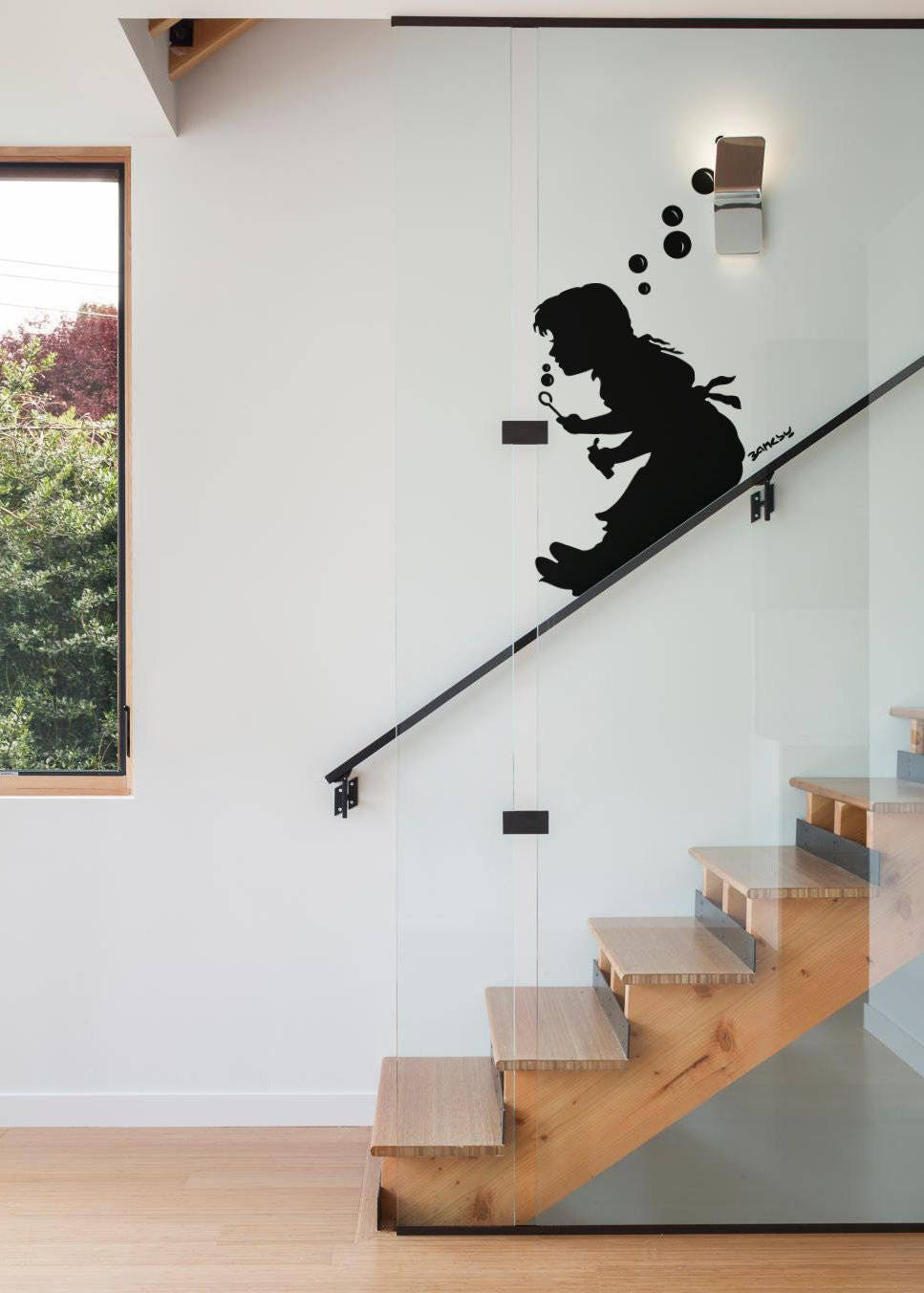 Bubble Girl Slide, Banksy, Wall Decal Sticker, Banksy Style, Urban Art,  Artist Graffiti Stencil Urban Walls Wallart Spray, Wall Art, London