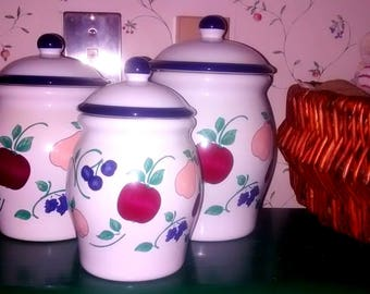 Princess House Orchard Medley Canister Set (3)