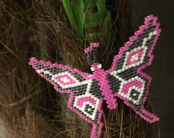Beaded Butterfly Clip