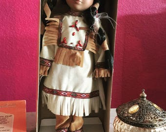 Vintage Ashley Belle Doll - Native American Indian with glasses