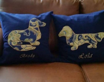 Personalized Monogrammed Dog Pillow - Personalized Dog Pillow - Custom Pillow - Custom Dog Pillow