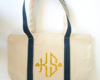 Monogram canvas bag