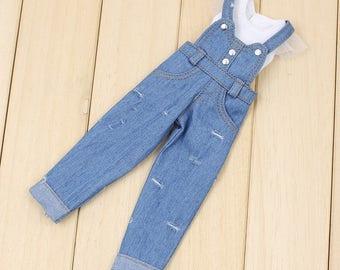 Barbie clothes denim overalls and top