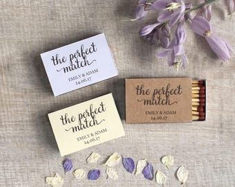 10 Personalised Wedding Favour Matchboxes The Perfect Match