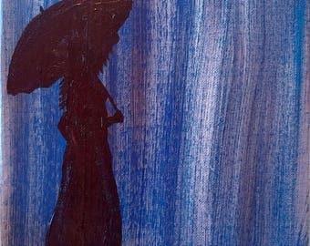 Rainy Day 8x10 Acrylic Painting