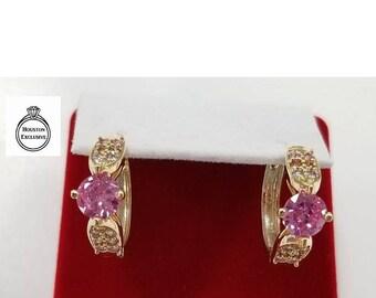 Huggie Hoops, Huggy, 18k Gold filled, Delicate, zirconian, 2 different colors avalable, 2.2cm, Hoop earrings, aracadas,