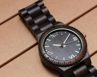 Wooden personalized watch M_003 FREE ENGRAVING