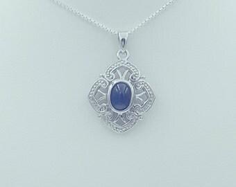 Sterling Silver Iolite Pendant
