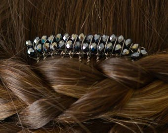 Double Strand Beaded Hair Comb