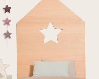Star house headboard