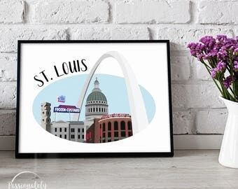 St. Louis Skyline - Wall Art - Digital Download