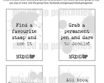 52 Printable Pick N Mix Creativity Challenge Cards