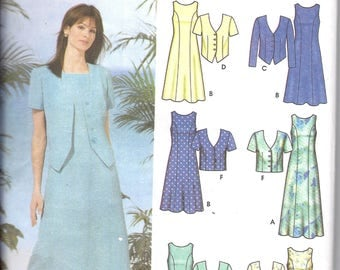 Simplicity 5660 Women's Dress and Jacket Sewing Pattern Plus Sizes 26W-32W