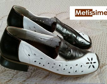 Loafers leather craft 3 cm heel