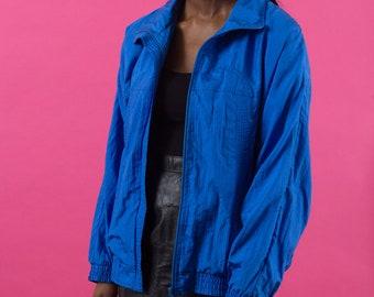 Windbreaker, Vintage Windbreaker, 80s Windbreaker, 90s Windbreaker, 90s Clothes, Spring Jacket, Nylon Jacket, 90s Windbreaker, Blue Jacket