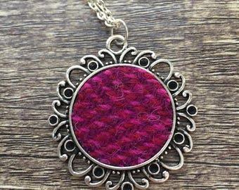 Harris Tweed Pendant Necklace