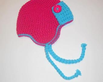 Crochet Bomber Hat
