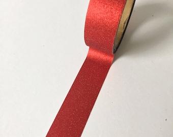 Valentine washi tape beautiful red glitter // Decoration Gift wrapping Masking Bullet Journal romantic presents soft adhesive washitape