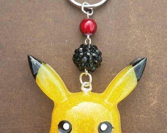 Pikachu resin keychain