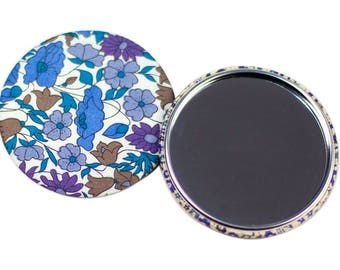 Liberty Poppy and Daisy 75mm Pocket mirror