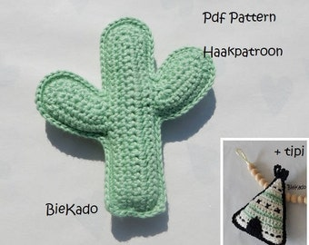 Crochet pattern Cactus and Tipi
