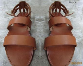 Sandals Women's,Women's Sandals,Handmade Leather Sandals,Natural Sandals,Strappy Sandals,Sandales grecques,ARXAIKO,Classic sandals EUROPE