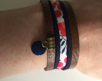 Liberty bracelet, faux leather