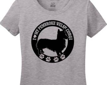 I Love My Pembroke Welsh Corgi Shirt