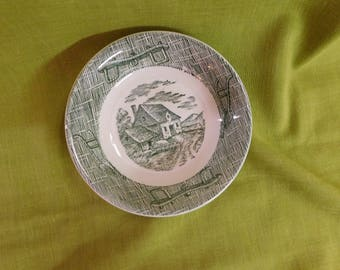Currier and Ives by SCIO Small Bowl Green
