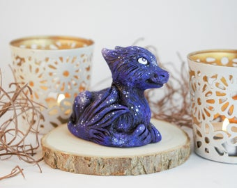 Eternal Universe Dragon Whelp - adorable handmade resin figurine - collector's item