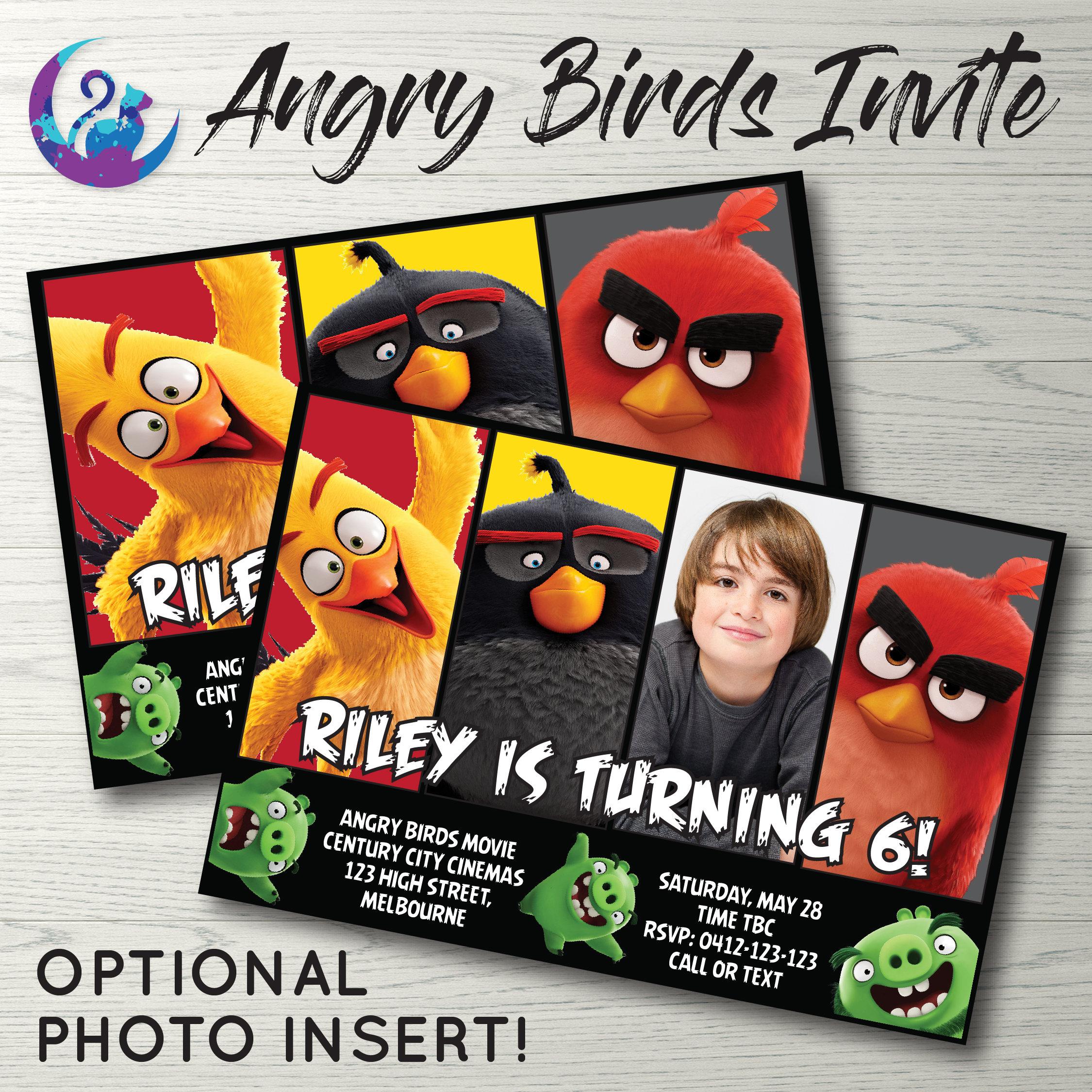 Angry Birds Invitation Angry Birds Party Invitation Angry