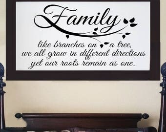 "Large framed sign,""Family Tree Branch"", Bedroom wall decor, Framed wedding signs, Bedroom signs, Gift for Couples. 55""x30"""